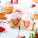 Leichte Erdbeer-Cupcakes