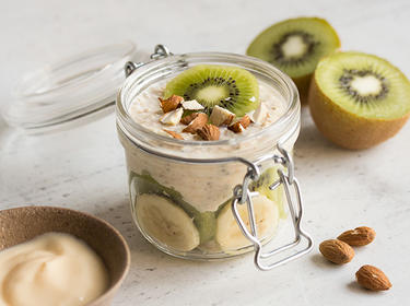 Bananen-Kiwi Overnight-Oats