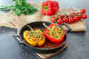 Gefüllte Paprika mit Quinoa und Kichererbsen © Maria & Perry | Resipis