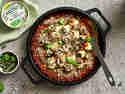 Gefüllte Zucchini-Röllchen in Tomatensauce mit BRESSO 100% PFLANZLICH und Kräuter der Provence