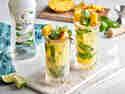 Coco Pineapple Mojito in Gläsern