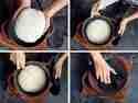 Brotlaib in Cocotte setzen und fürs Backen vorbereiten