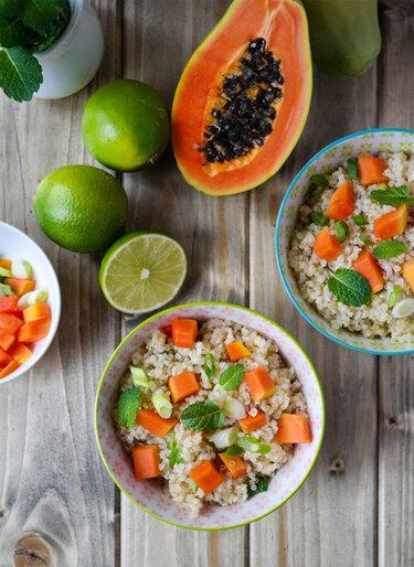 Sommersalate_Quinoa-Salat-mit-Papaya_SiasSoulfood