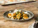 Süßkartoffel-Gnocchi mit Pesto