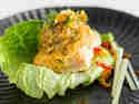 Gedämpftes Lachsfilet mit exotischer Reispaste