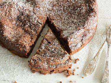Glutenfreier Schokoladenkuchen Mit Meersalz