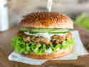 Scharfe Hühnchen-Burger
