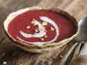 Rote-Bete-Suppe mit Pastinake
