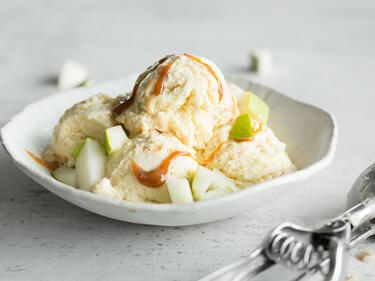 Birnen-Karamell-Eis