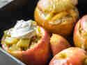 Bratapfel mit Crumble und Mascarpone