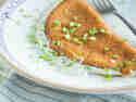 Fluffiges Omelett mit dreierlei Käse