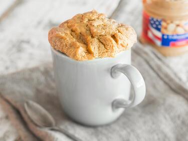 Glutenfreier Erdnussbutter Tassenkuchen Mit 3 Zutaten