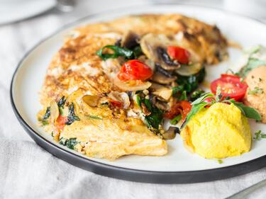Rezept Für Omelett veganes omelett mit pilzen