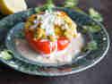 Gefüllte Paprika mit Falafel