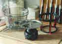 Entsafterschüssel, Halterung und Schnecke