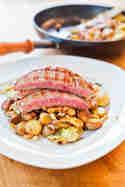 Bratkartoffeln mit Flank Steak © lecker macht laune