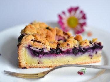 Pudding-Blaubeer-Kuchen © S-Küche
