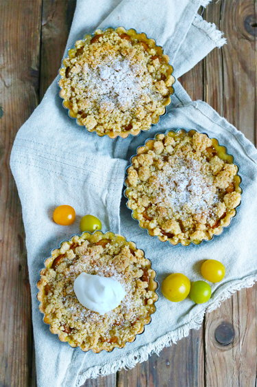 Mirabellen-Streusel-Tartelettes © Bake to the roots
