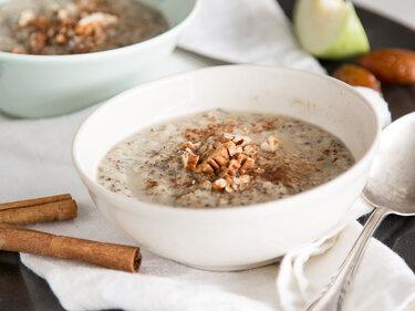 Cremiges Apfel-Zimt-Porridge