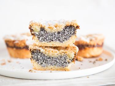 Klein Und Rund Statt Gross Und Eckig Mohn Streusel Muffins