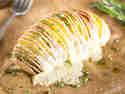 Fächerkartoffel aus dem Ofen