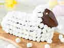 Osterlamm mit Marshmallow-Wolle
