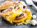 Grilled Cheese Sandwich aus Blumenkohl mit Cheddar