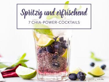 chia cocktails 7 fruchtige power drinks mit kick. Black Bedroom Furniture Sets. Home Design Ideas