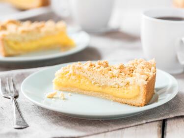 Streuselkuchen Mit Pudding Gefullt Wie Fruher