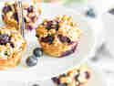 Ohne Zucker und ohne Mehl: Frühstücksmuffins mit Blaubeeren