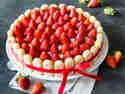 Fruchtige Erdbeer-Quark-Torte