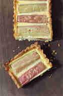 Rhabarbertarte mit Vanillecreme © A cake a day