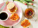 Mango-Pfirsich-Marmelade mit Ingwer