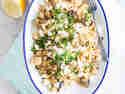 Auberginen-Bulgur-Salat mit Hähnchen
