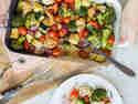 Kunterbuntes Ofengemüse mit Hähnchen