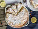 Mandel-Zitronenkuchen mit weißer Schokolade - glutenfrei