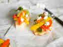 Bruschetta mit dreierlei Paprika