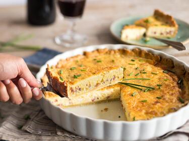 Kuchen Mal Herzhaft So Machst Du Quiche Lorraine