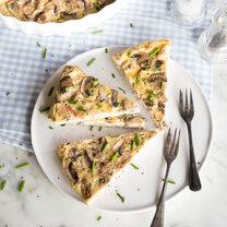 Low Carb- crustless Quiche mit Pancetta und Pilzen_featured