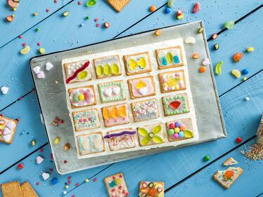 Fur Strahlende Kinderaugen Butterkekskuchen Vom Blech