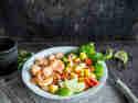 Mango-Salat mit Garnelen