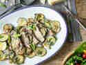 Scaloppine mit Zucchini und Minze