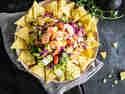 Taco-Salat mit Garnelen und Grapefruit
