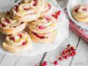Puddingschnecken mit Johannisbeeren