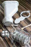 Der KitchenAid Röhrennudelvorsatz und sein Zubehör © Kleines Kulinarium