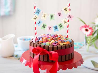 Kinderleicht Und Kunterbunt Kitkat Geburtstagskuchen