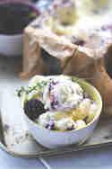 Brombeereis mit Ziegenfrischkäse © Moey's kitchen
