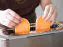 Ab in den Toaster mit den Süßkartoffelscheiben