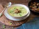 Vegane Kartoffel-Lauch-Suppe