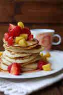 Pancakes mit Joghurt © Experimente aus meiner Küche